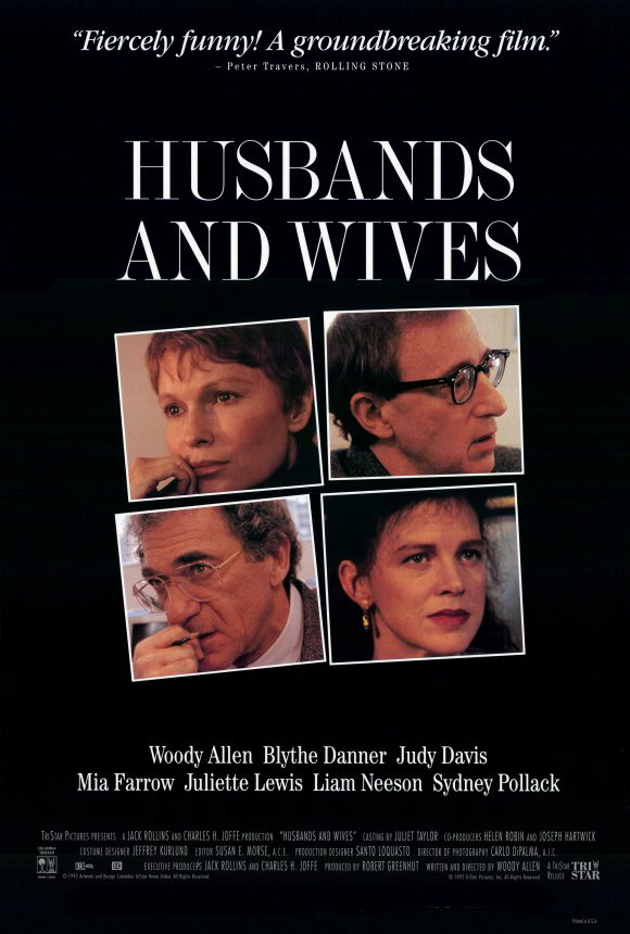 Чоловіки та дружини / Husbands and Wives (1992) 720p Ukr/Eng | Sub Eng